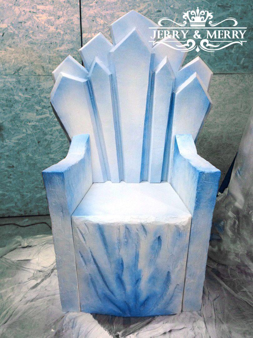 Как сделать трон для снежной королевы своими