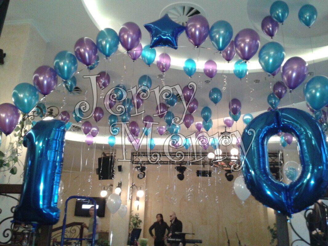 Оформление помещения воздушными шарами своими руками 72